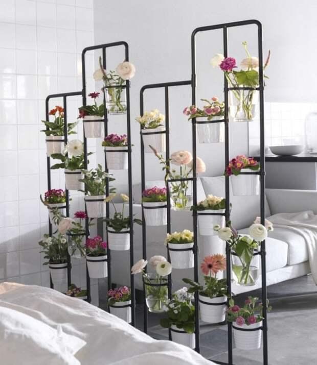 Отличные идеи размещения цветов для украшения дома