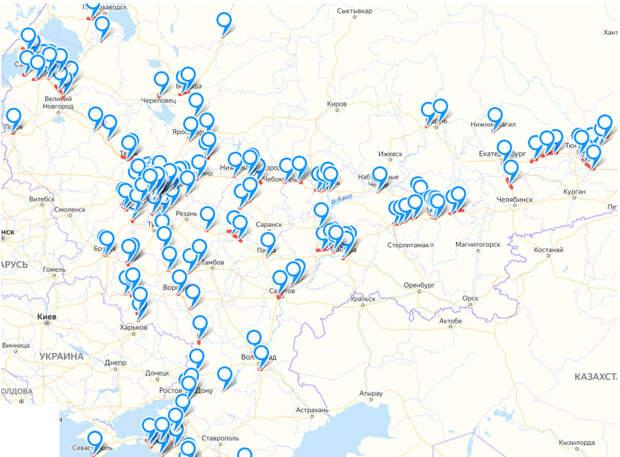 Карта дорожных строек, газификация России и закрытие борделей в Германии
