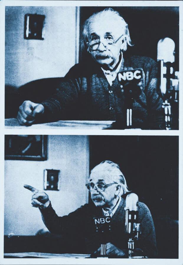 Альберт Эйнштейн даёт интервью в Принстоне, 1950 год.