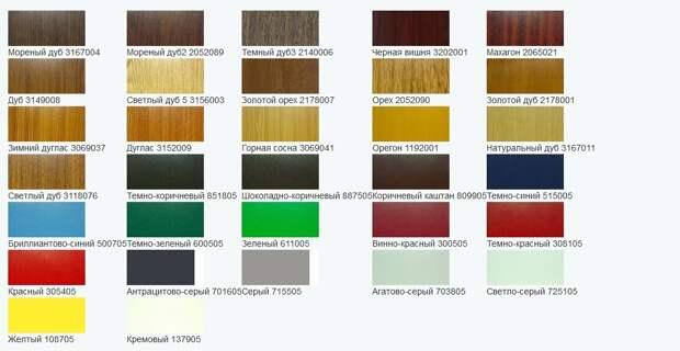Цветные окна ПВХ Rehau