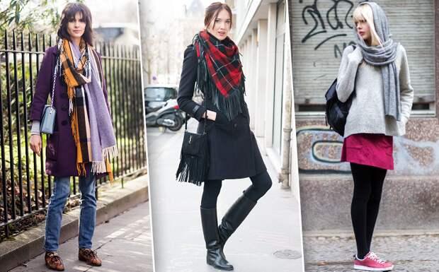 Как носить объемный шарф ивыглядеть стильно: 20 модных идей дляхолодов