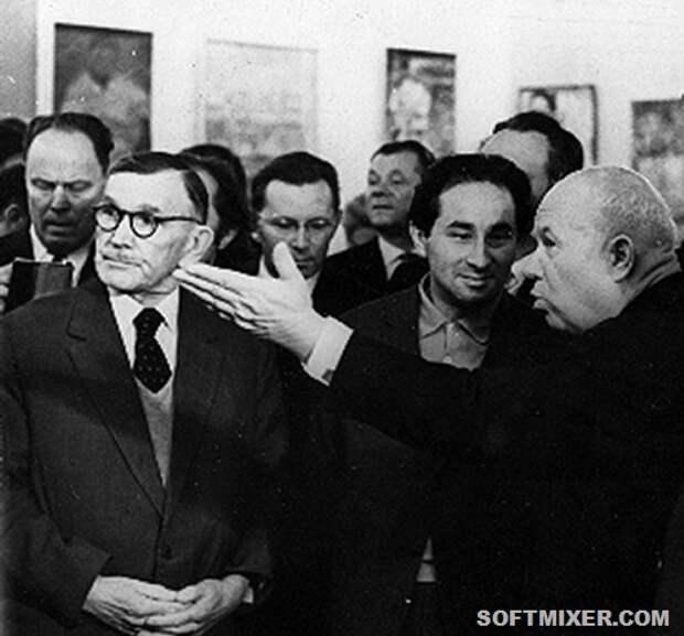 """Хрущев: """"И с этой мазней мы пойдем в коммунизм?"""""""