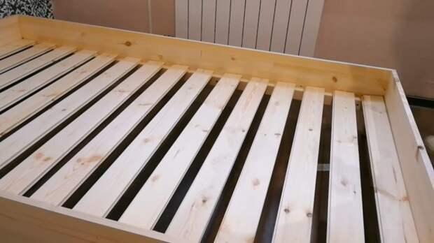 Кровать за копейки при минимуме материалов и инструментов
