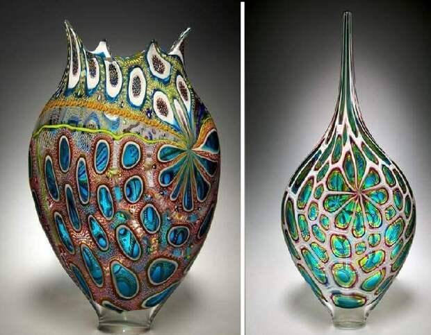 Изделия из муранского стекла, выполненные в стиле миллефиори.