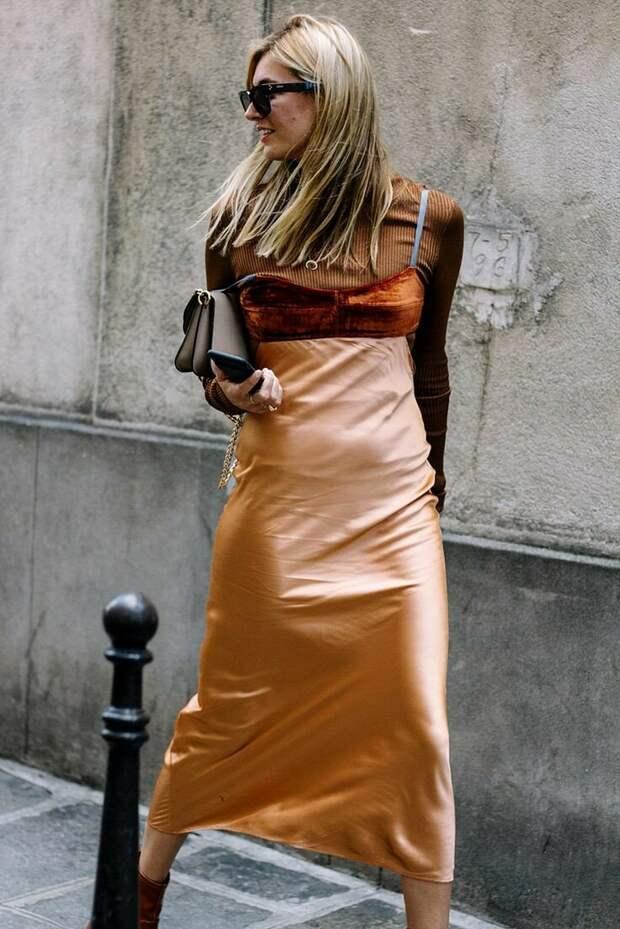 7 летних способов носить шёлковое платье