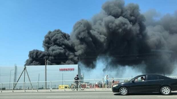 В МЧС рассказали о пожаре на «Мираторге» в Калининграде