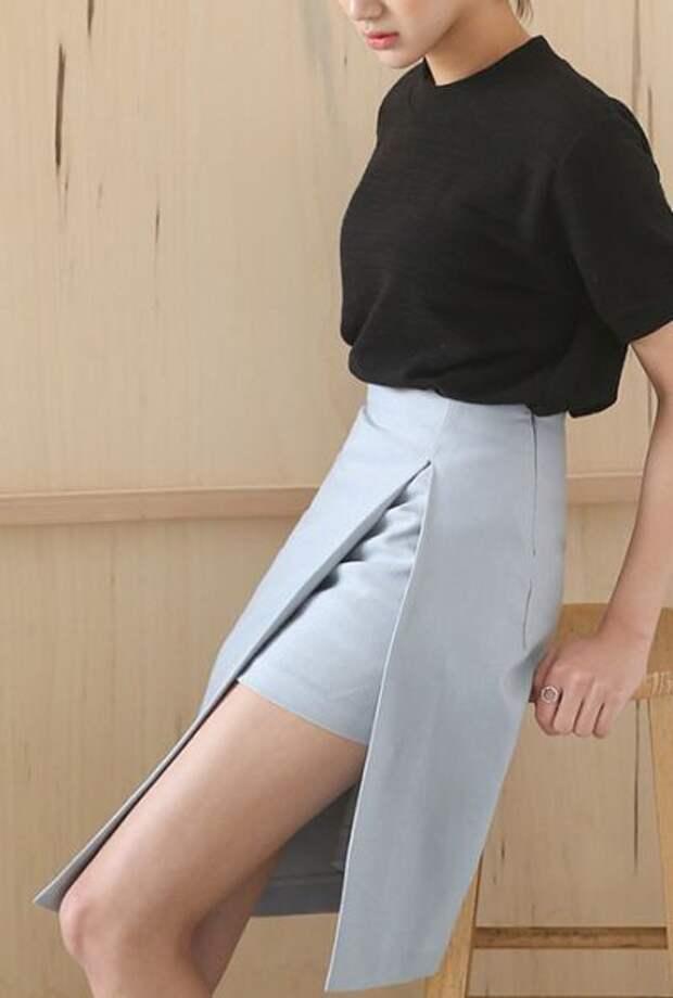 самые модные юбки с запахом мини