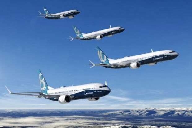Четыре размерные версии Boeing 737 поколения MAX