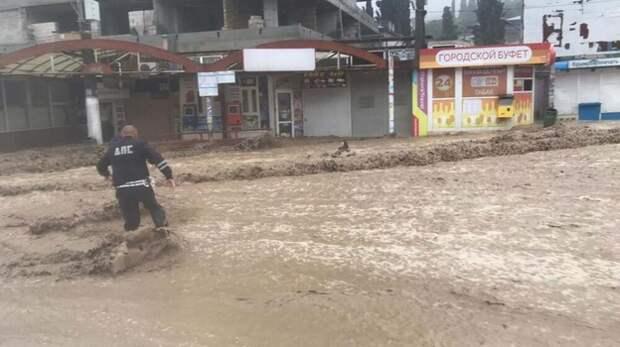 В Ялте во время наводнения женщина пропала без вести