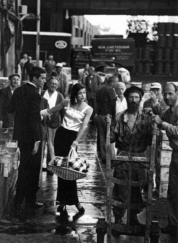 7. Рыбный рынок Нью-Йорка и его контрасты, США, 1958 год контраст, красота, нефотошоп, новое и старое, различие, россия, фотография