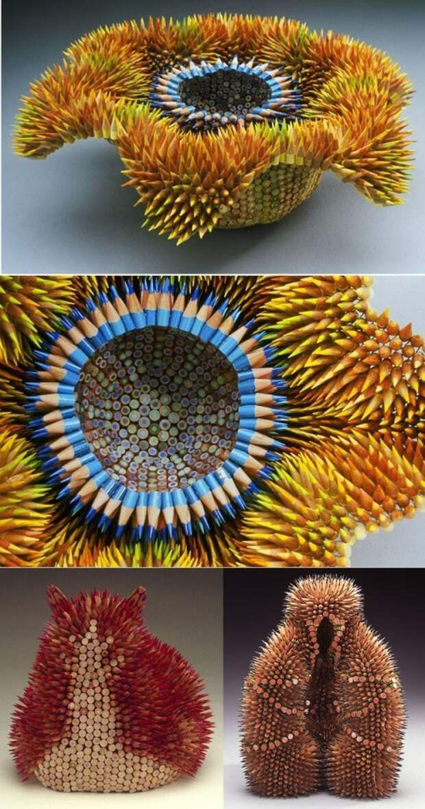 И это все из цветных карандашей. Вот это фантазия!
