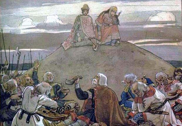Тризна на могиле Вещего Олега. В. М. Васнецов. Источник: wikipedia.org