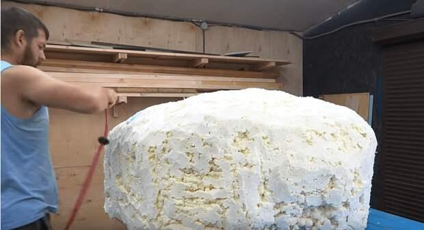Искусственный камень-колпак для маскировки чего угодно на дачном участке. Справиться любой