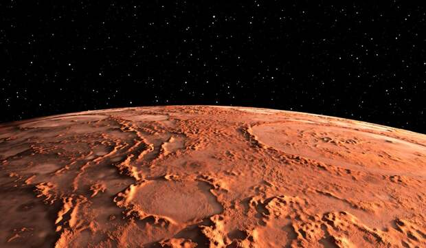 Поверхность Красной планеты целиком и полностью покрыта кратерами