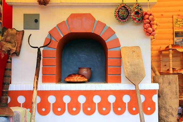 Печь в стиле а-ля рюс