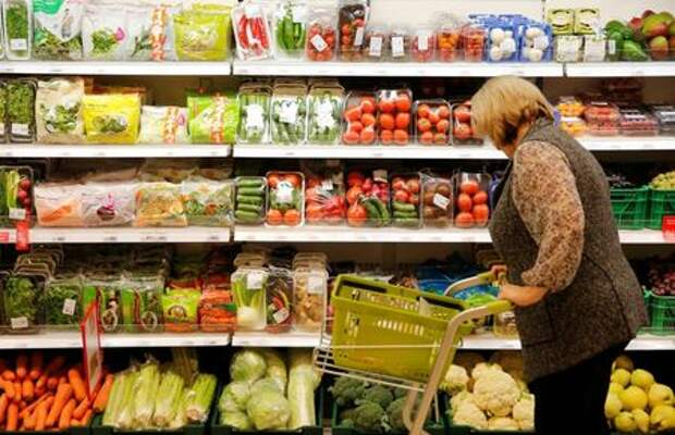 A customer shops at a Victoria supermarket operated by Russian food retailer Dixy Group in Moscow, Russia, October 20, 2016. REUTERS/Maxim Zmeyev