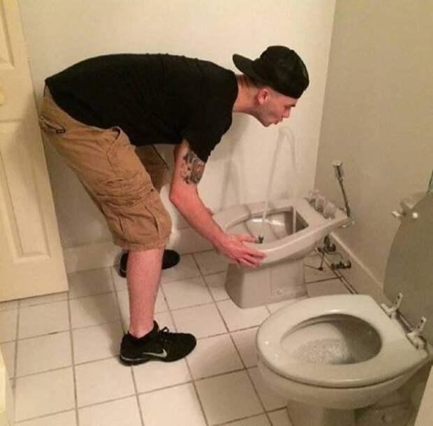 Фонтанчик в туалете