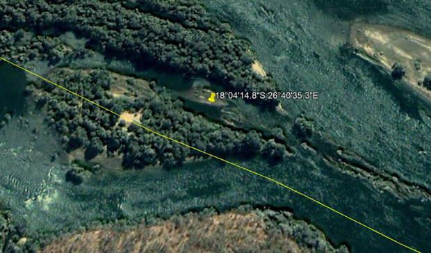 На карте реки Замбези обнаружили огромный упавший диск НЛО