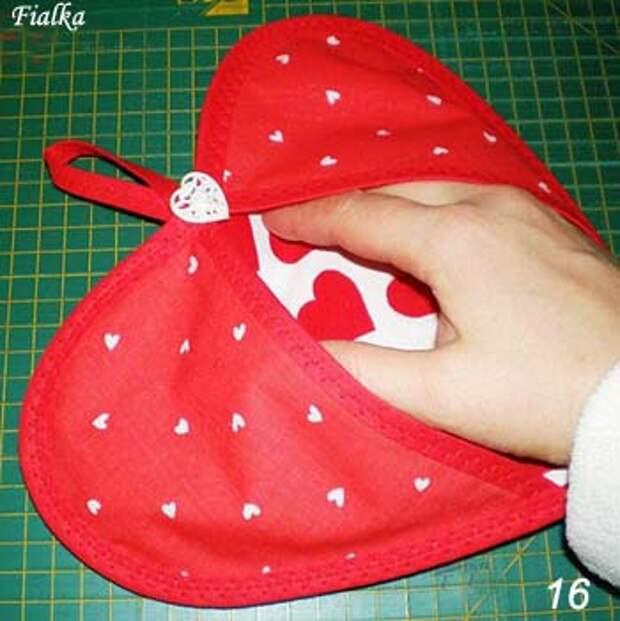 Прихватка валентинка своими руками