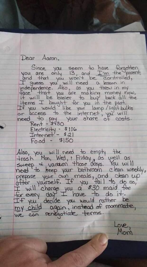 Мать написала письмо сыну, но не подозревала, что его читает весь Интернет...