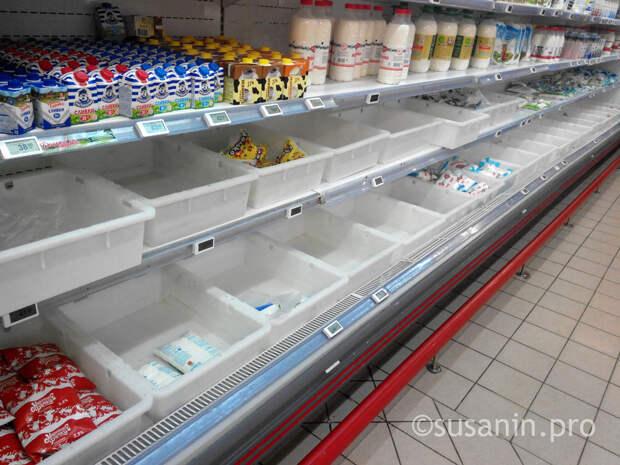 Почти половина проверенных в Удмуртии магазинов не научилась выкладывать «молочку» по новым правилам