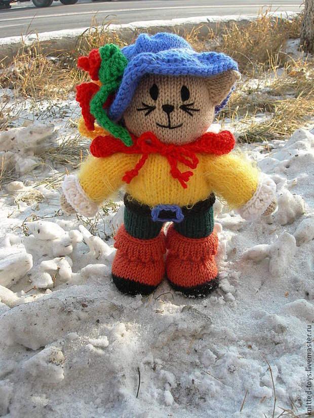 Кот. Вязаная игрушка Кот в сапогах, Мягкие игрушки, Липецк,  Фото №1