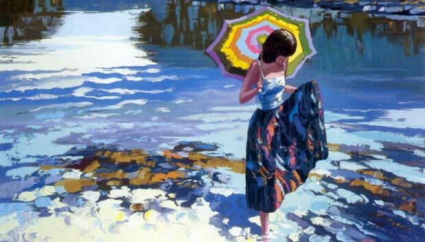 Когда будете скучать по лету, смотрите на картины этого художника. Его называют Моне XXIвека