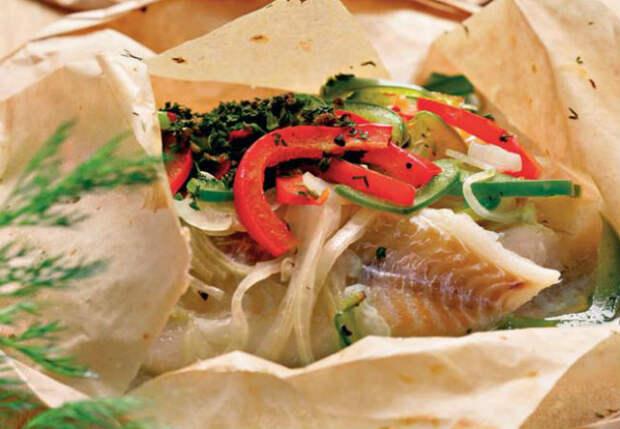 Рыба на бумаге: не пригорает и не брызгается