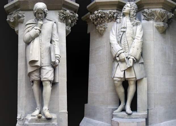 Ньютон против Гука и Лейбница| Фото: Википедия.