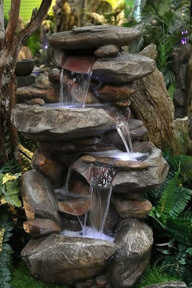 Мини-водопад для дачи: 27 интересных идей