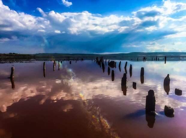 8 завораживающих фото розового Чокракского озера, которое находится в Крыму