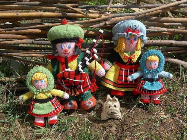 Вязаные куклы Шотландская сага, Мягкие игрушки, Липецк,  Фото №1