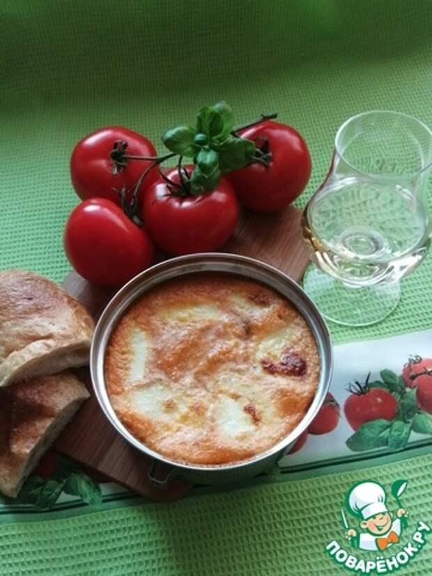 Запечённая моцарелла в томатном соусе