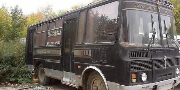 Омичей вместо автобусов по городу начали возить похоронные катафалки авто, автобус, омск, пассажир