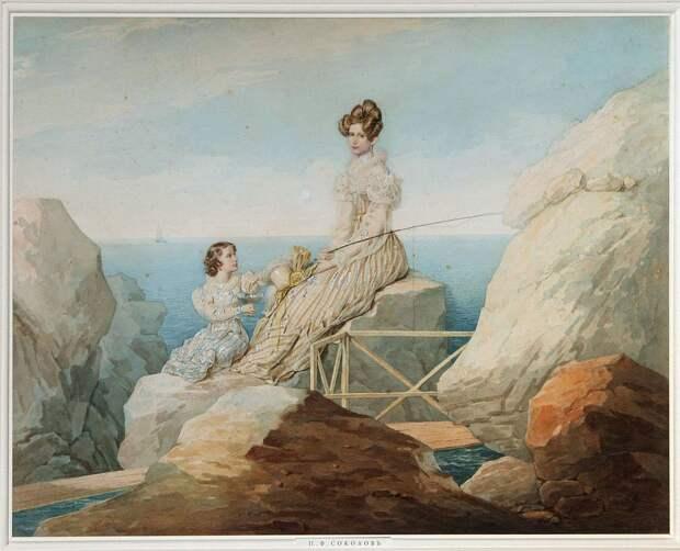 Александра с дочерью Марией (1829) - Петр Соколов .