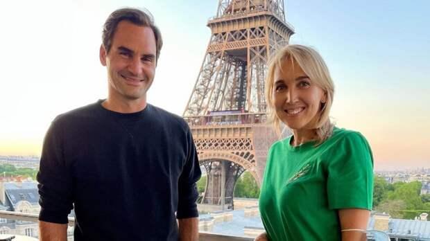 Веснина выложила фото с Федерером с «Ролан Гаррос» на фоне Эйфелевой башни