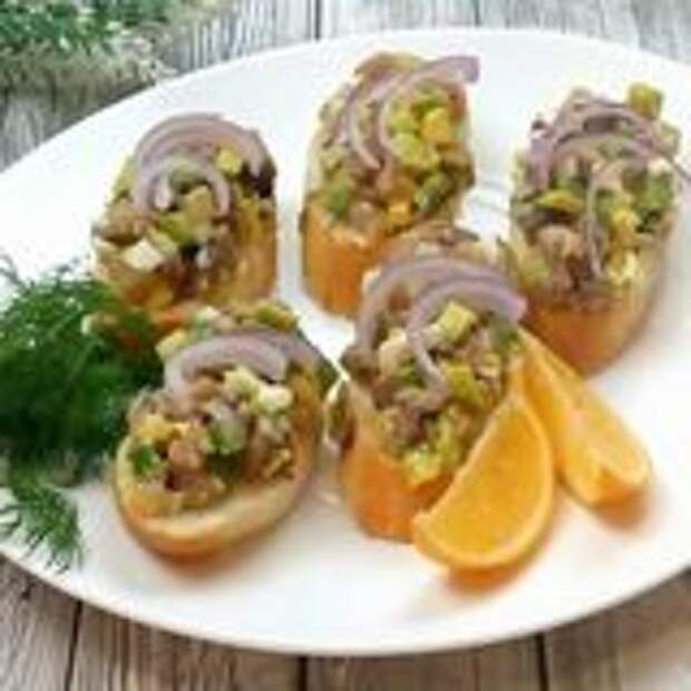 Новогодняя закуска из любимой селёдочки