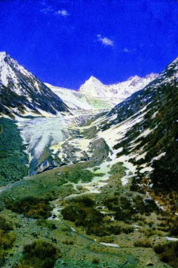 Ледник по дороге из Кашмира в Ладакх.