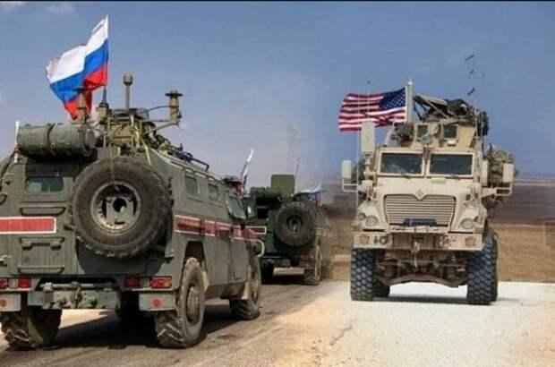 Опубликовано новое видео погони военных изРФ заброневиками ВС США вСирии