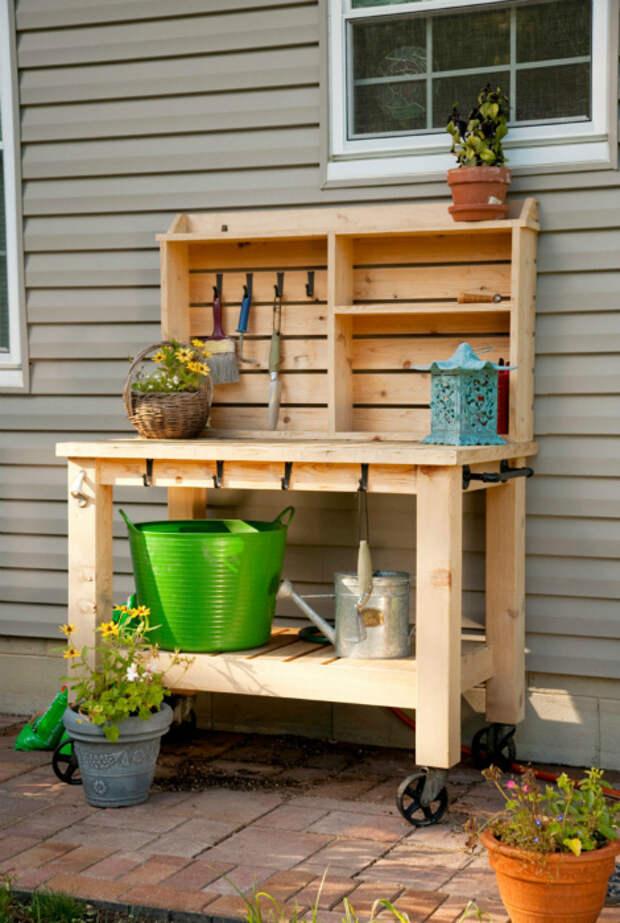 Компактный садовый столик. | Фото: Yandex.