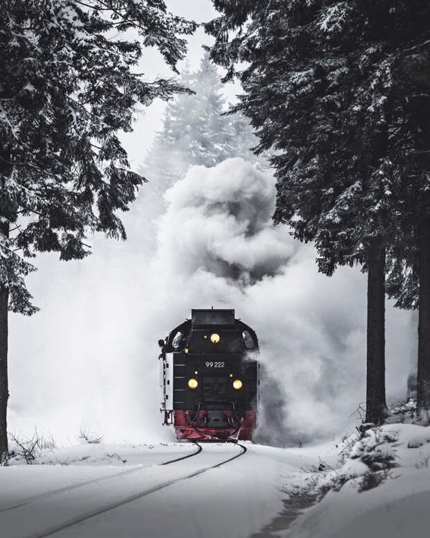 Замечательные зимние снимки Эрика Рейнхарта