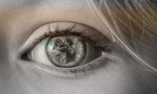 глаз на фото