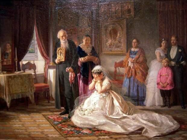 Фирс Журавлев, «Перед венцом». / Фото: www.kartinysistoriey.ru