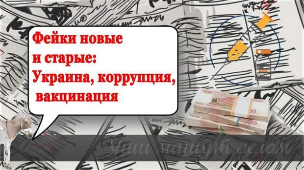 Фейки новые и старые: Украина, коррупция, вакцинация | Уши машут ослом