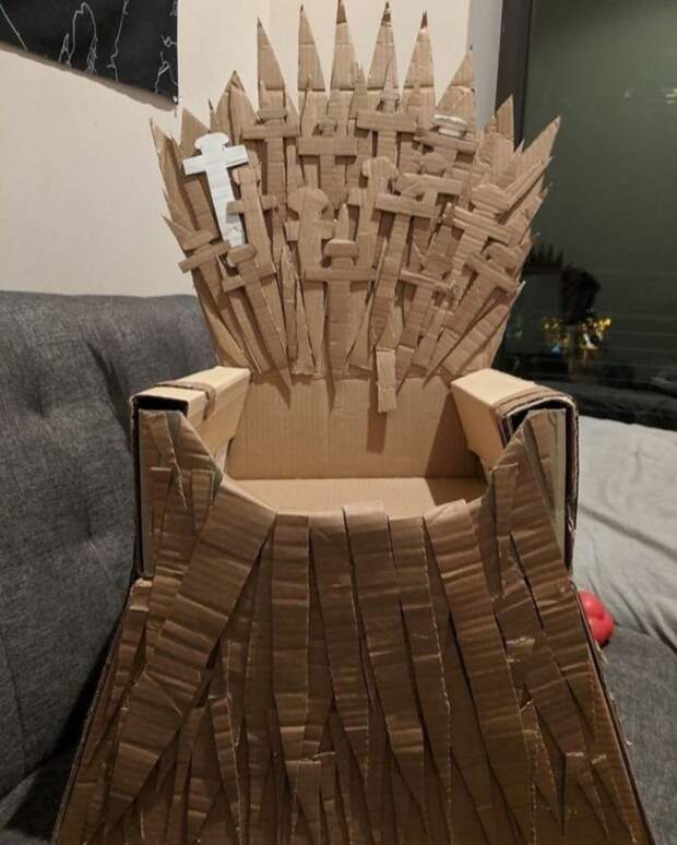 Картонный трон в Домашней Гавани (DIY)