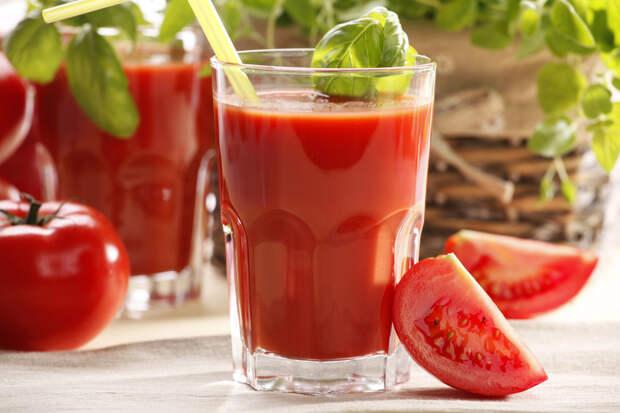 Томатный сок или помидор. Что полезнее