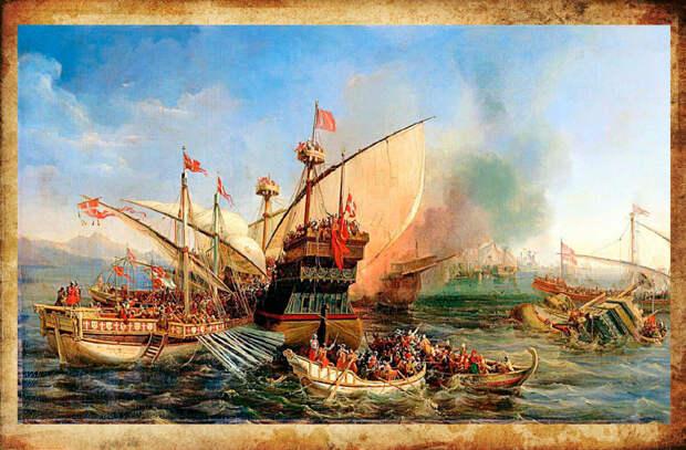 Атака берберских пиратов. Изображение взято из открытых источников.