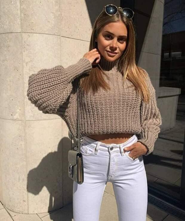Какие свитера носить с юбками и брюками – актуальные фасоны весна 2021