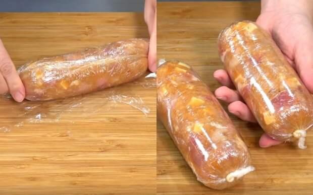 колбаски с сыром