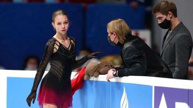 Трусова заявила 5 четверных прыжков в произвольной программе на чемпионате мира